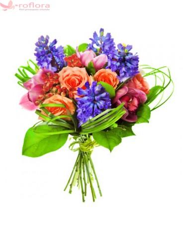 Orhidee, trandafiri, zambile, verdeata