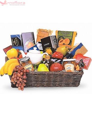 Aroma - Cos gourmet cu fructe, ciocolata si ceai