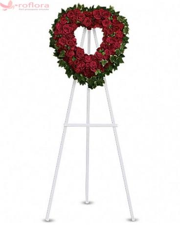 Binecuvantare - Coroana din trandafiri si garoafe rosii