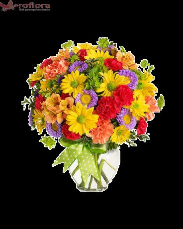 Buchet cu flori colorate de vara