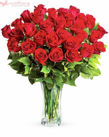 Cantecul Dragostei – Buchet cu 29 trandafiri rosii