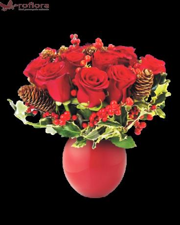 Carol – Buchet din 11 trandafiri rosii - Roflora