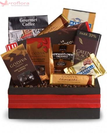 Chocolat - Cos gourmet cu ciocolata, cafea si alune