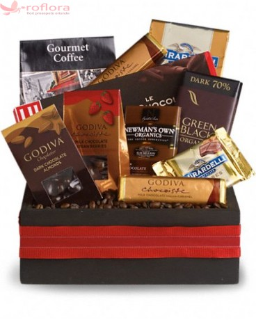 Cos gourmet cu ciocolata