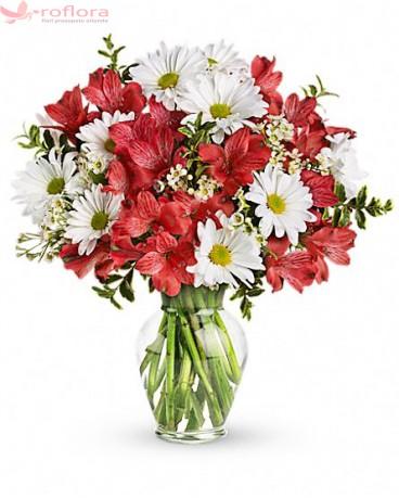 buchet cu flori de sezon pentru Dragobete