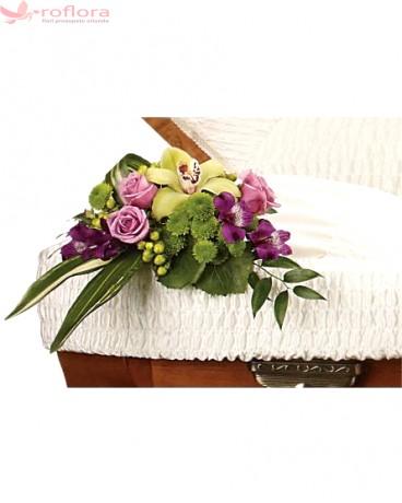 Dearest - Aranjament din orhidee, trandafiri si crizanteme