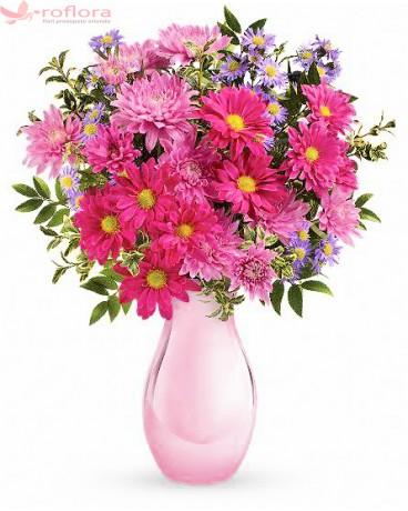 Buchet din crizanteme si aster