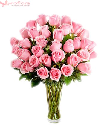 Dulce Pasional – Buchet din 33 trandafiri roz