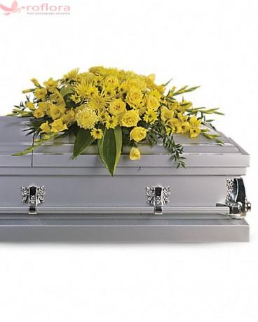 Faith - Aranjament din trandafiri, garoafe, gladiole si crizanteme