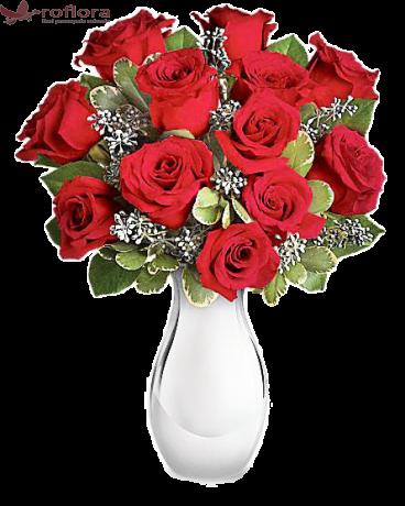 Focos - Buchet din trandafiri rosii