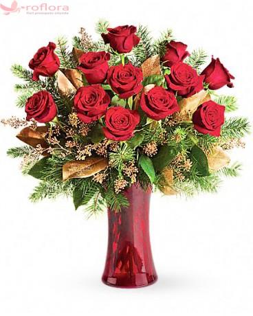 Glorios - Buchet din trandafiri rosii