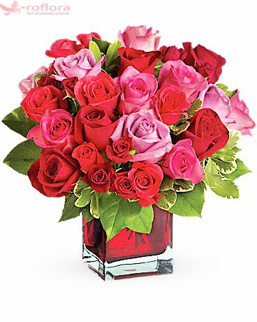 Aranjament trandafiri pentru ziua indragostitilor