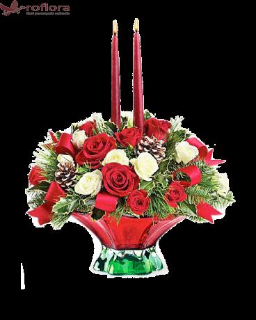 Miracolul Craciunului - Aranjament din trandafiri