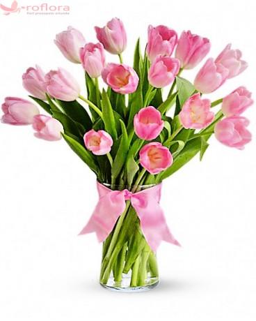 My pink precious - Buchet de lalele roz