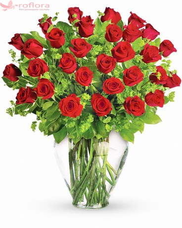 Parfumul Preferat al Fericirii – Buchet cu 31 trandafiri rosii