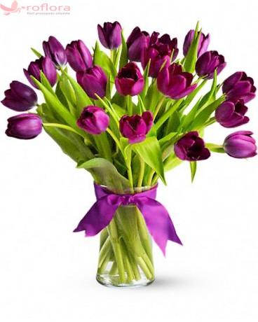 Purple Passion - Buchet de lalele violet