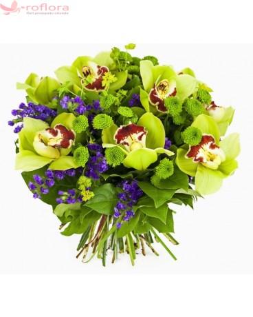 Tropical - Buchet din orhidee si crizanteme