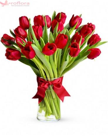 True love - Buchet de lalele rosii
