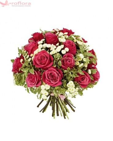 Vintage rose - Buchet de trandafiri rosii