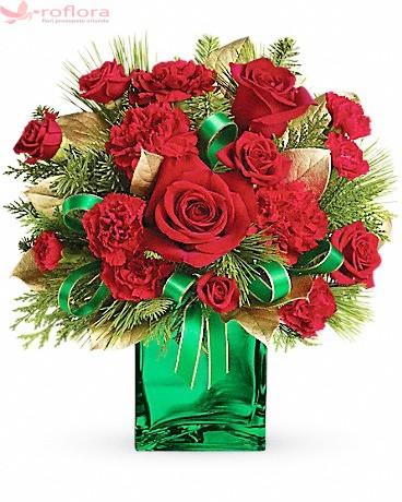 Vivat Perfectiunea – Buchet din trandafiri si garoafe