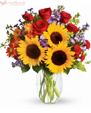 Buchet cu floarea-soarelui