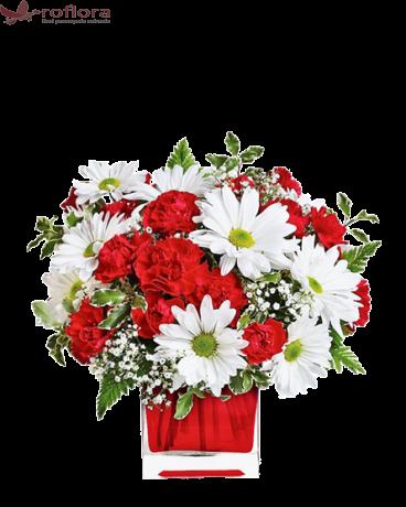 Zile Inflorite – Buchet din garoafe si crizanteme