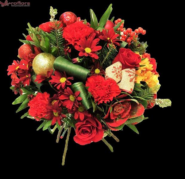 Jolly - Buchet cu flori mixte rosii