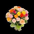 Mozaic - Buchet din 21 trandafiri multicolori