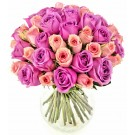 Deluxe purple - Buchet de trandafiri violet si roz