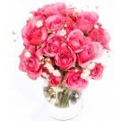 Pink pearl - Buchet din minirosa roz