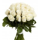 White Bloom - Buchet de 23 trandafiri alb crem