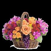 Abundenta - Cos cu trandafiri, minirosa, crizanteme si alstroemeria