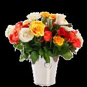 Rainbow Roses - Buchet din 47 trandafiri multicolori