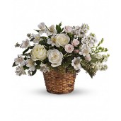 Celestial - Cos cu trandafiri, minirosa si alstroemeria