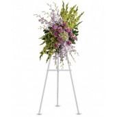 Cordial - Coroana din trandafiri, gladiole, orhidee si hortensii