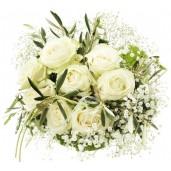 Heavenly Bouquet - Buchet din trandafiri albi