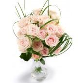 Light Pink Roses - Buchet din 21 trandafiri roz