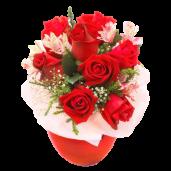 Magic – Buchet cu trandafiri si alstroemeria