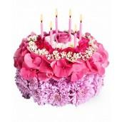 Make a Wish - Aranjament din crizanteme, hortensie, waxflower, trandafir si garofite