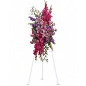 Memorable Tribute - Coroana din trandafiri, crini, gladiole, garoafe