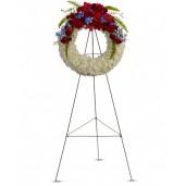 Onoare - Coroana din trandafiri, gladiole, delphinium si crizanteme