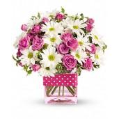 Happy Mom  - Buchet din minirosa si crizanteme