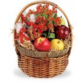 Plin de Sanatate - Cos gourmet cu fructe, alune si plante
