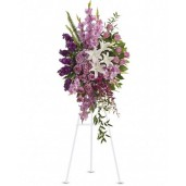 Sacred - Coroana din minirosa, crini, gladiole, hortensii