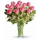 Sweet Candy Rose - Buchet de 13 trandafiri roz