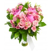 Sweetest Wishes - Buchet din minirosa si eustoma