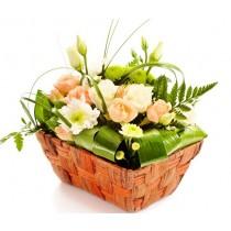 Surprise - Mini cos cu minirosa, crizanteme si eustoma