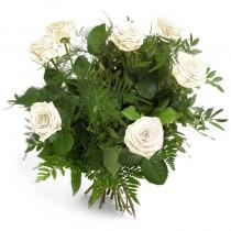 Aspiratie – Buchet din 7 trandafiri albi