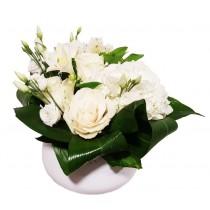 Euforie - Aranjamnet cu alstroemeria, eustoma si trandafiri