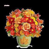 Armonie de Toamna – Buchet din trandafiri, garoafe si crizanteme